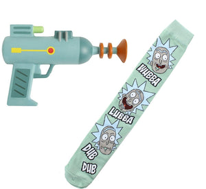 Rick and Morty Knee High Socks and Foam Costume Laser Gun Bundle