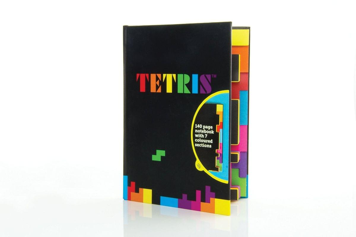 Tetris 140 Page Notebook w/ 7 Colored Sections