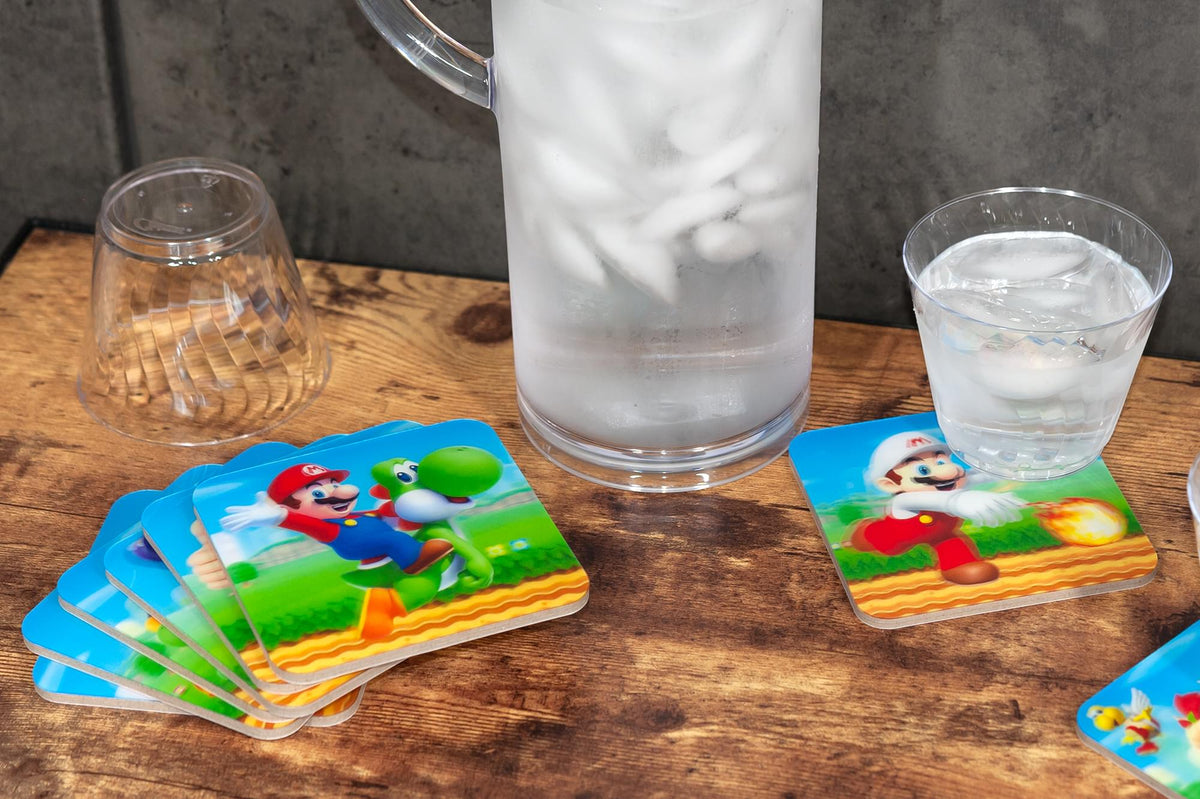 Nintendo Super Mario Bros. 4-Piece Stackable 3D Coaster Set