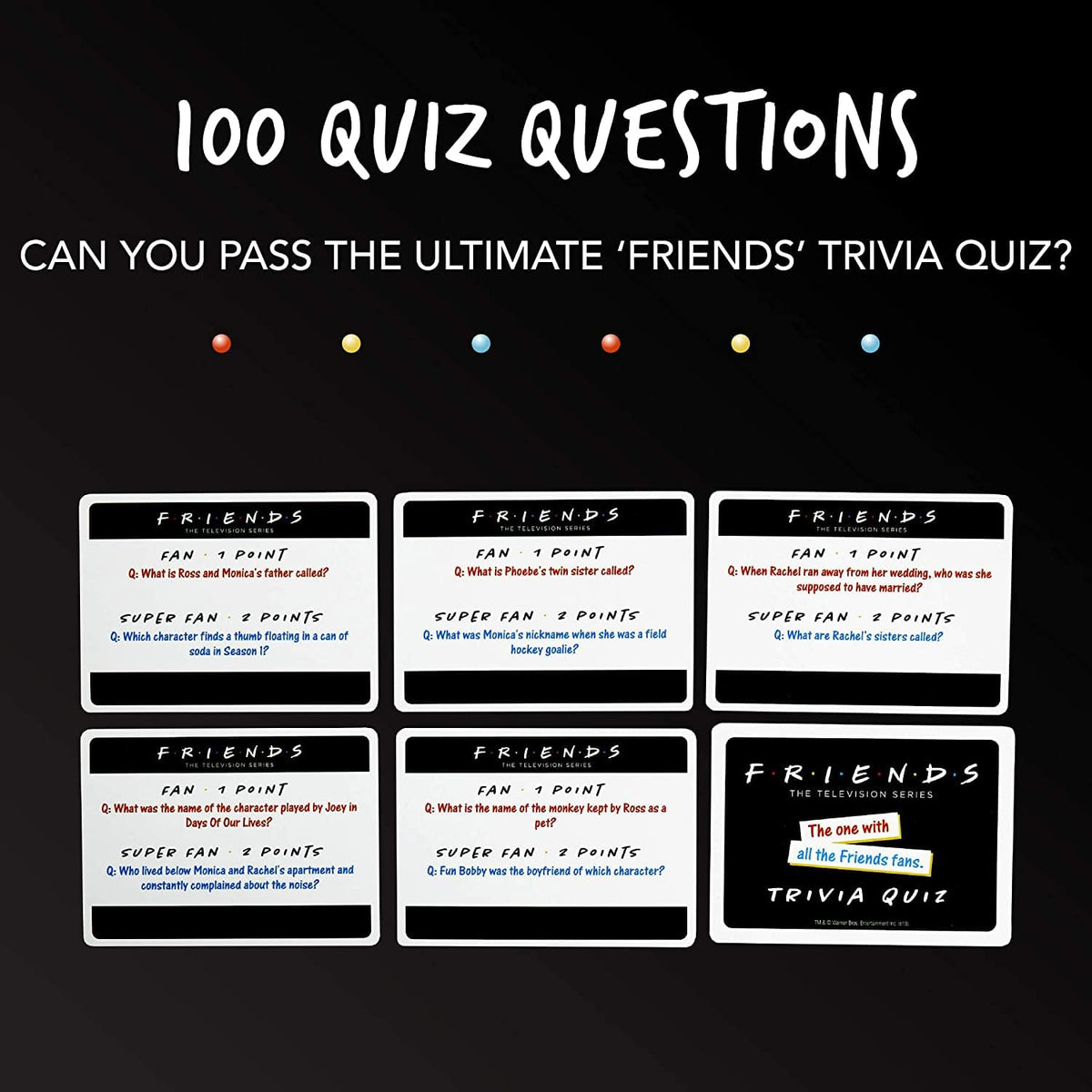 Friends Trivia Quiz Card Game | 2+ Players