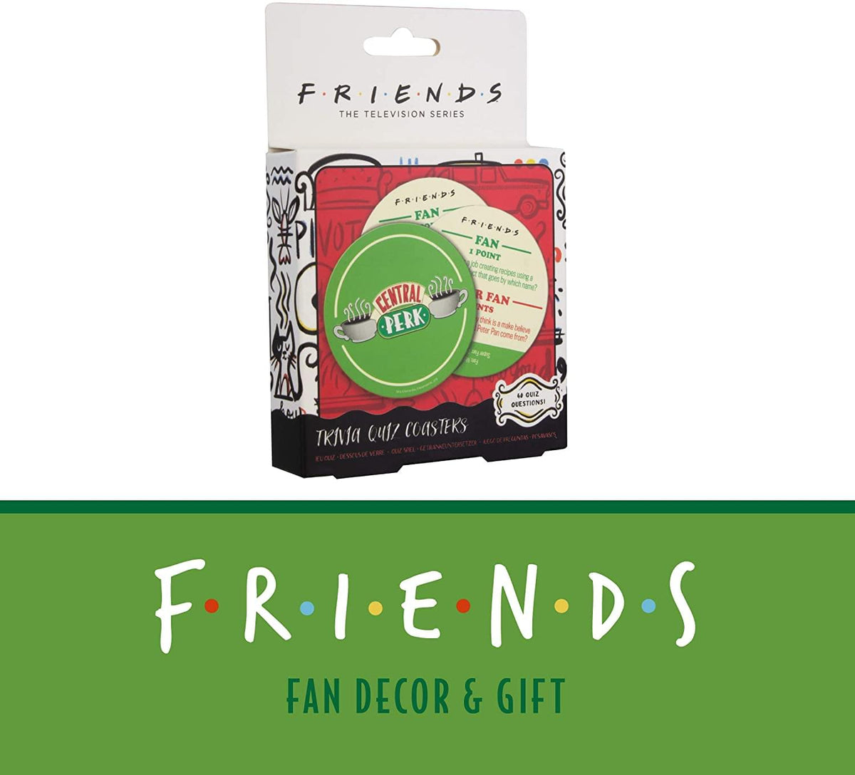 Friends Central Perk Trivia Drink Coasters | Set of 20