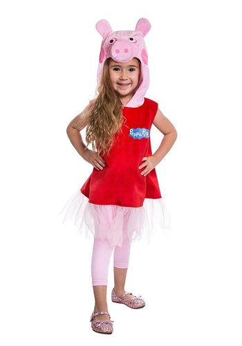 Peppa Pig Deluxe Peppa Pig Dress Toddler Costume