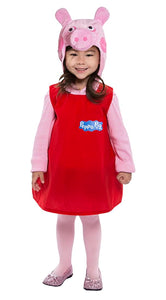 Peppa Pig Toddler Costume Dress w/ Hood