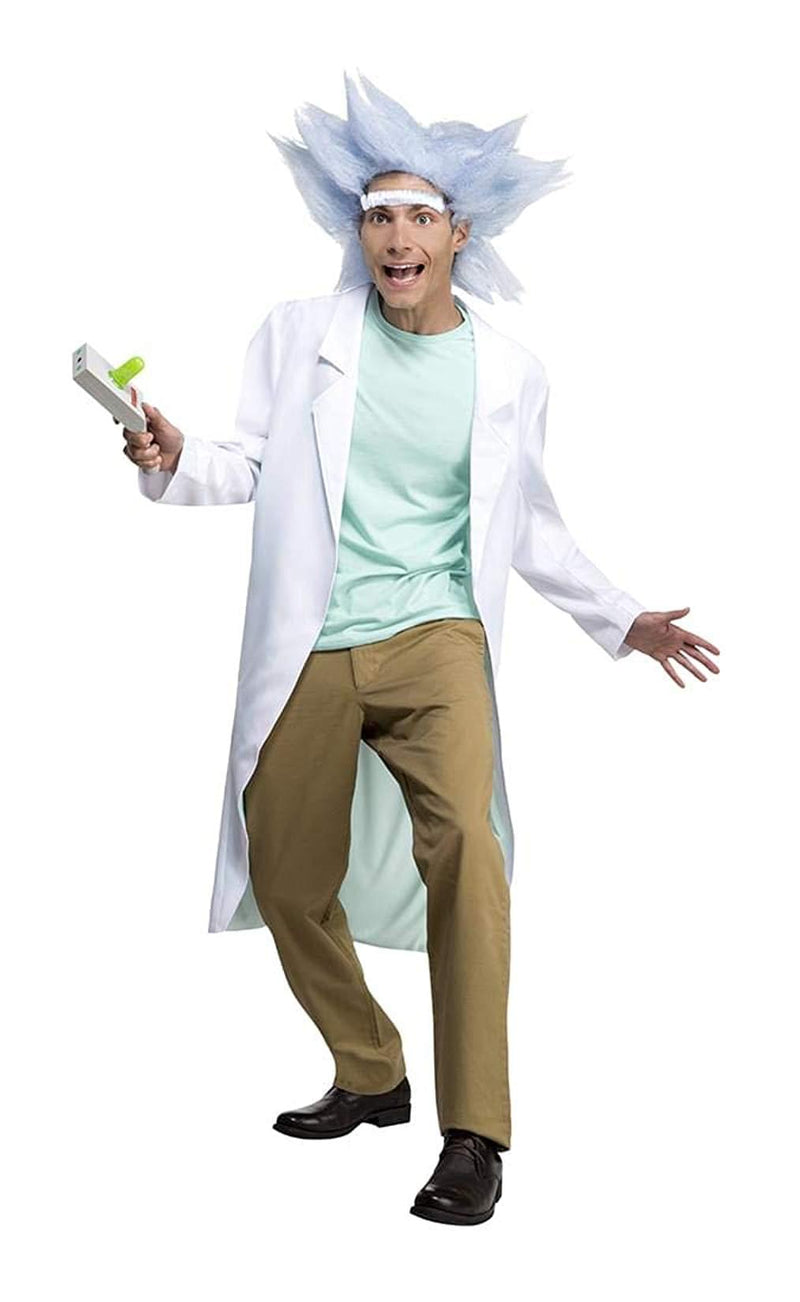 rick and morty deluxe rick mens costume small 38