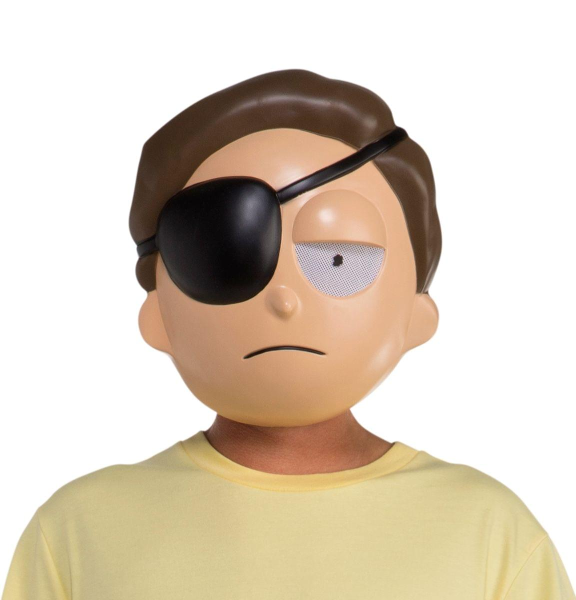 Rick and Morty Morty w/ Eye Patch Adult Costume Mask