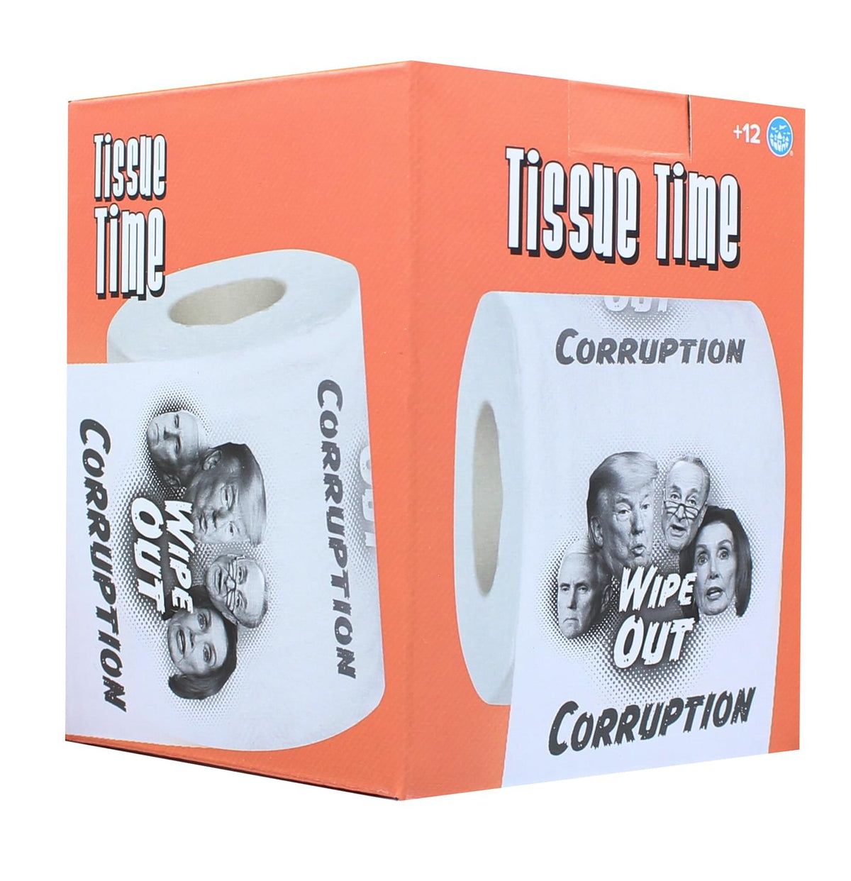 Tissue Time Wipe Out Corruption Novelty Toilet Paper | One Roll