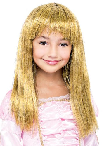 Glitzy Glamour Bob Gold Child Costume Wig