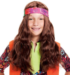 Long Hippie Child Costume Wig
