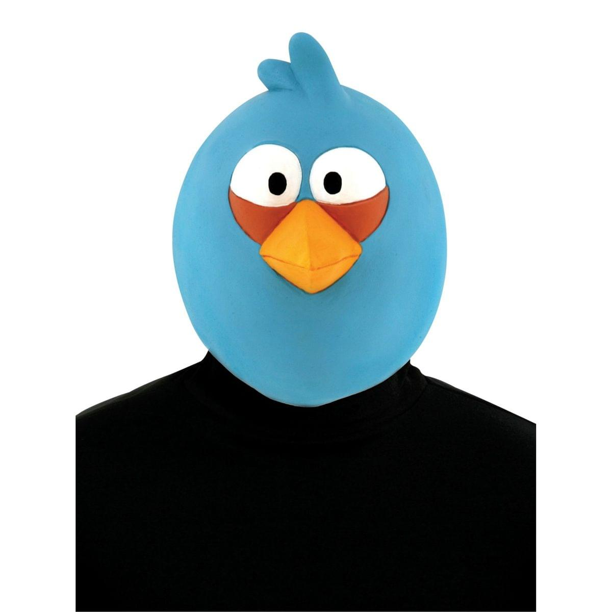 Angry Birds Blue Bird Latex Costume Mask One Size