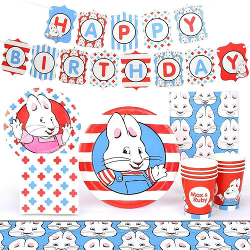 Max and Ruby Birthday Party Supplies Pack | 66 Pieces | Serves 8 Guests