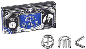 The Einstein Collection E=Mc2 Metal Brain Teaser Puzzle Set | 3 Pieces