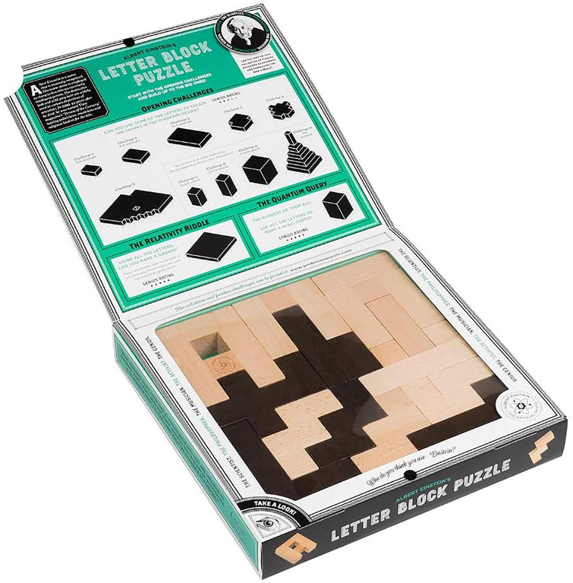 The Einstein Collection Letter Block Puzzle | 12 Challenges