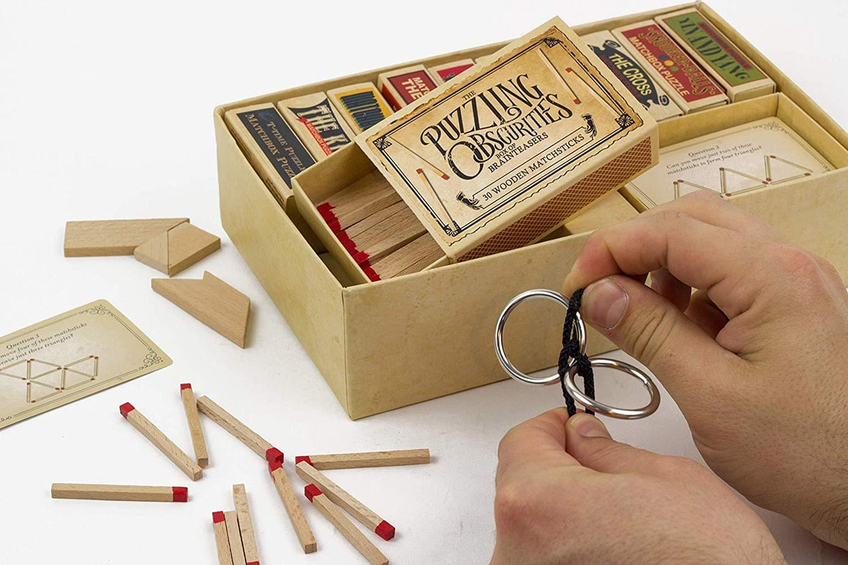 The Obscurities Box of Brain Teasers | 10 Matchbox Puzzles & 50 Challenges