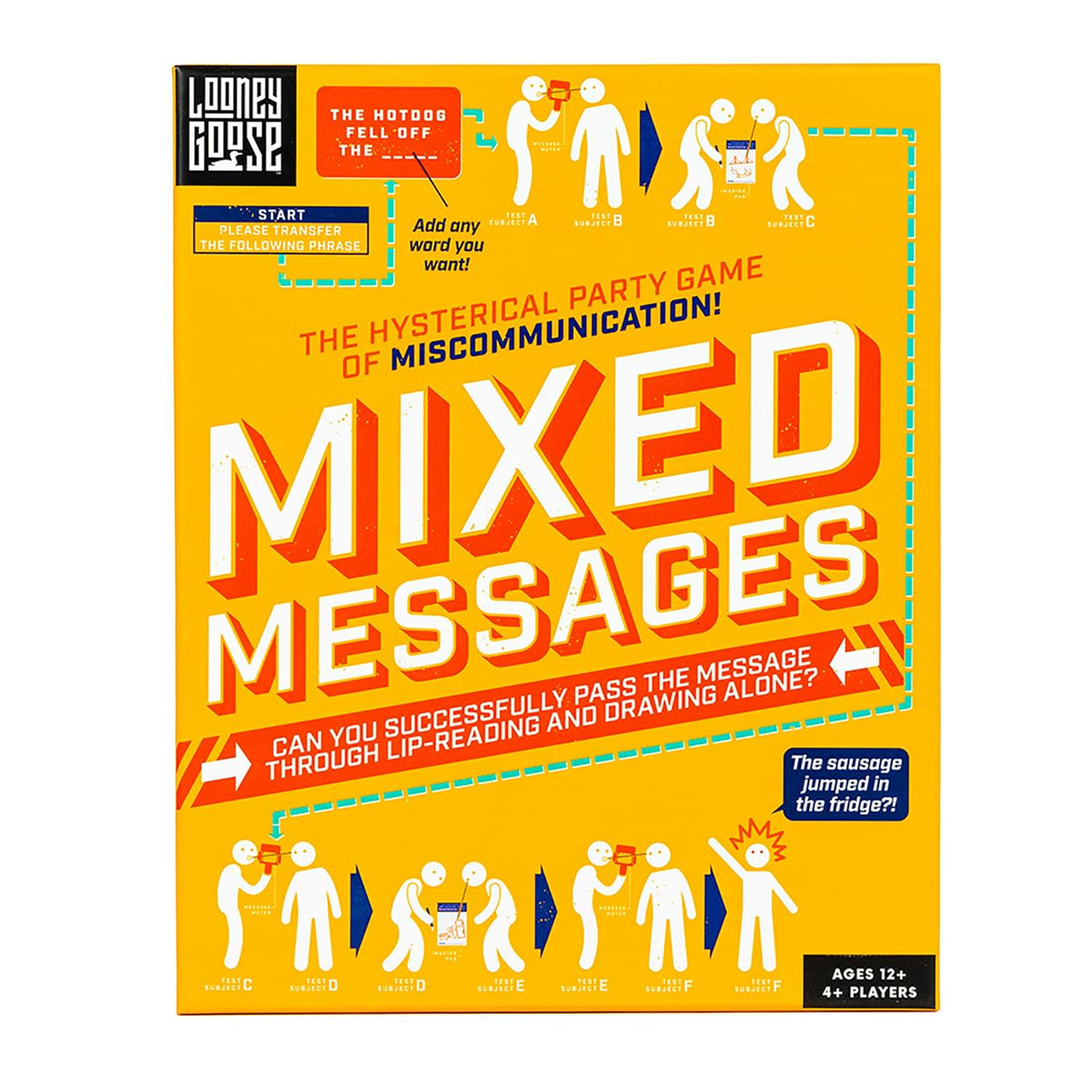 Mixed Messages Lip Reading & Drawing Party Game | 4+ Players