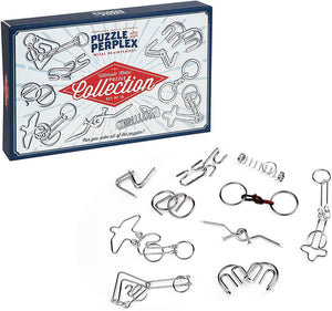 Puzzle & Perplex Metal Brain Teaser Puzzle Set | 10 Pieces