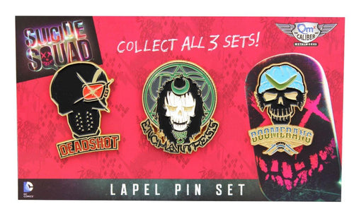 Suicide Squad Lapel Pin 3-Pack, Set 1