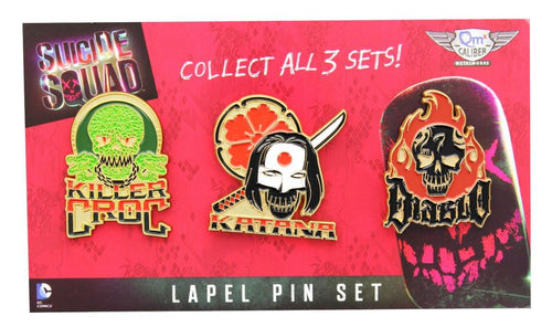 Suicide Squad Lapel Pin 3-Pack, Set 2