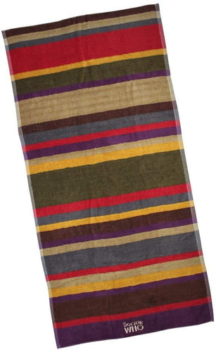 Doctor Who 4th Doctor Multi Color 28 x 55 Inch Cotton Towel