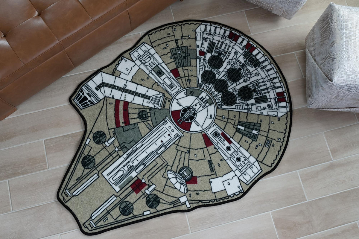 Star Wars Millennium Falcon Small Area Rug | 39 x 52 Inches