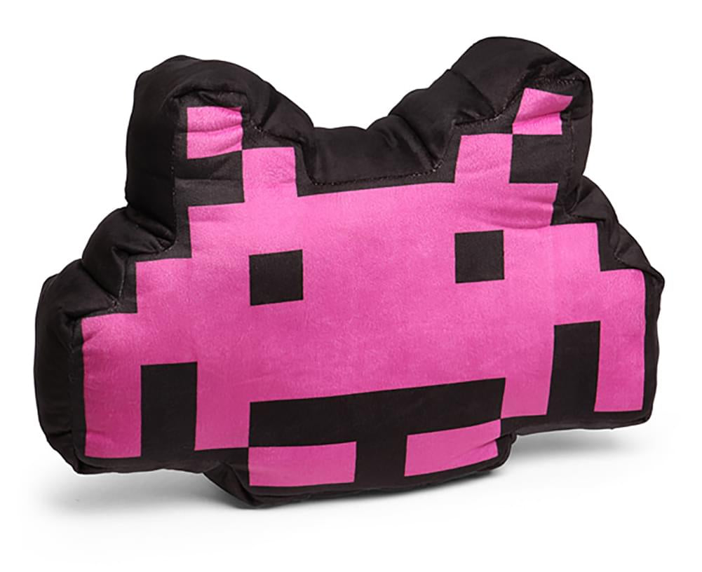 "Space Invaders 17"" Pink Crab Alien Pillow Cushion"