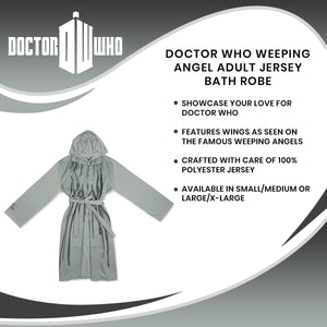 Doctor Who Weeping Angel Adult Jersey Bath Robe