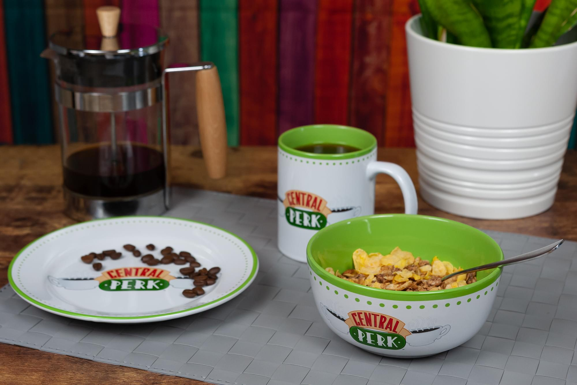 Friends Central Perk Coffee House Dining Set Collection | 3-Piece Dinner Set