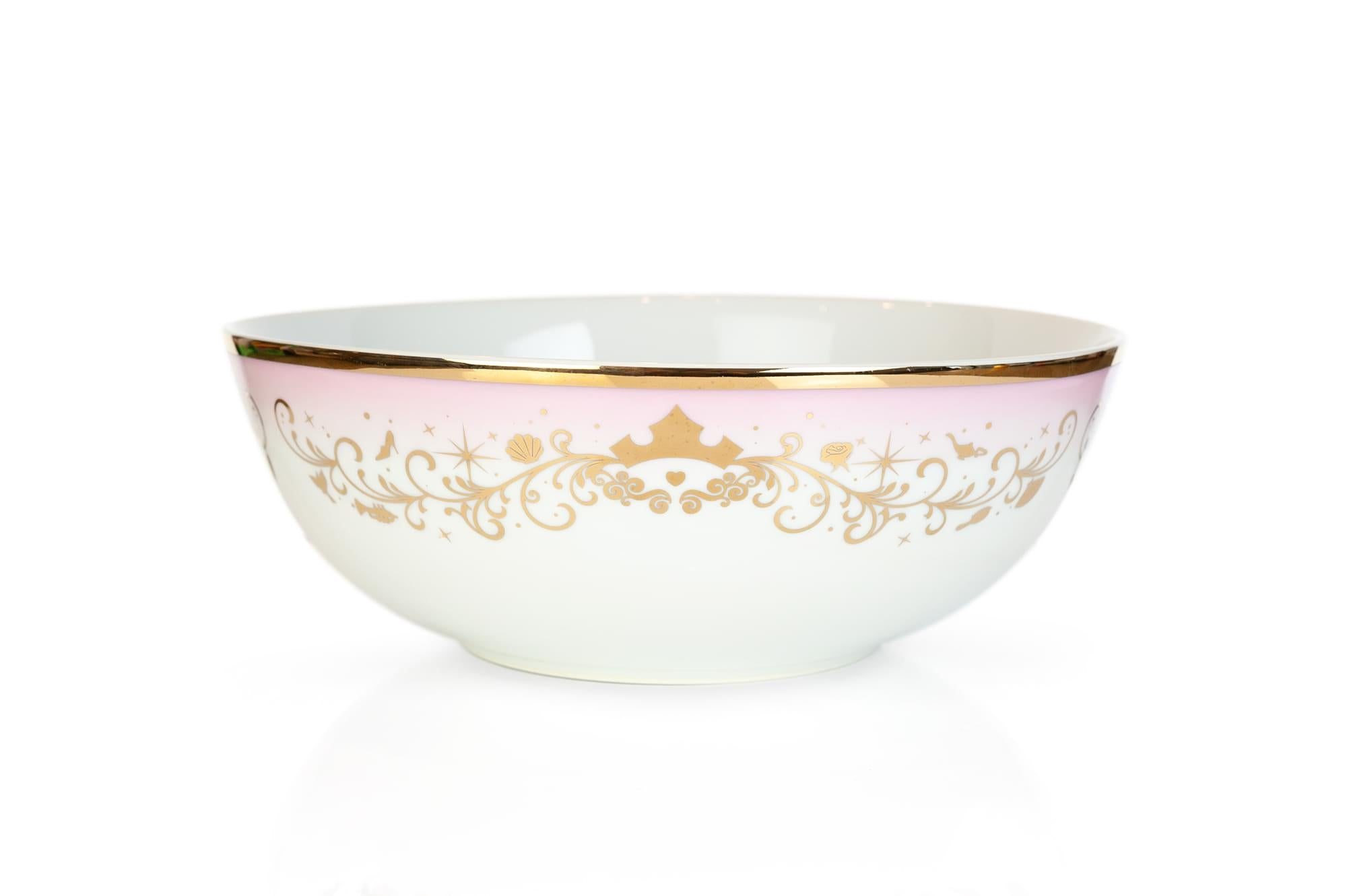 Disney Princess Ceramic Serving Bowl | Elegant Dinner Bowl Measures 10.5 Inches