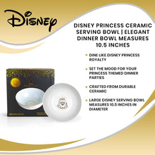 Load image into Gallery viewer, Disney Princess Ceramic Serving Bowl | Elegant Dinner Bowl Measures 10.5 Inches