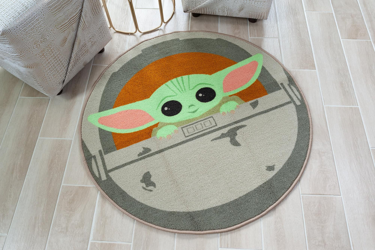 Star Wars: The Mandalorian, The Child 39-Inch Round Area Rug
