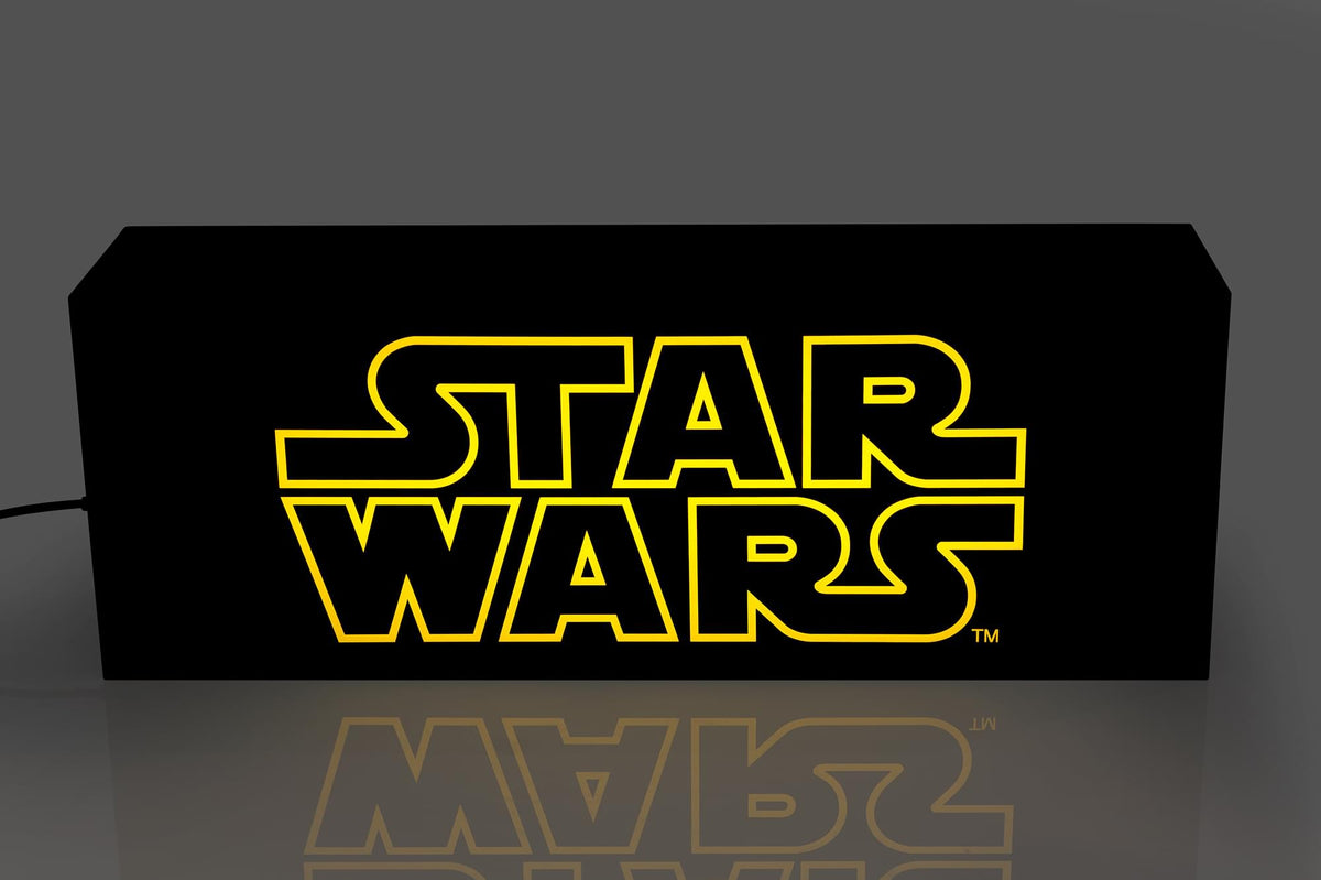 Star Wars Official Logo 17-Inch Light Box | Electric/USB Mood Light