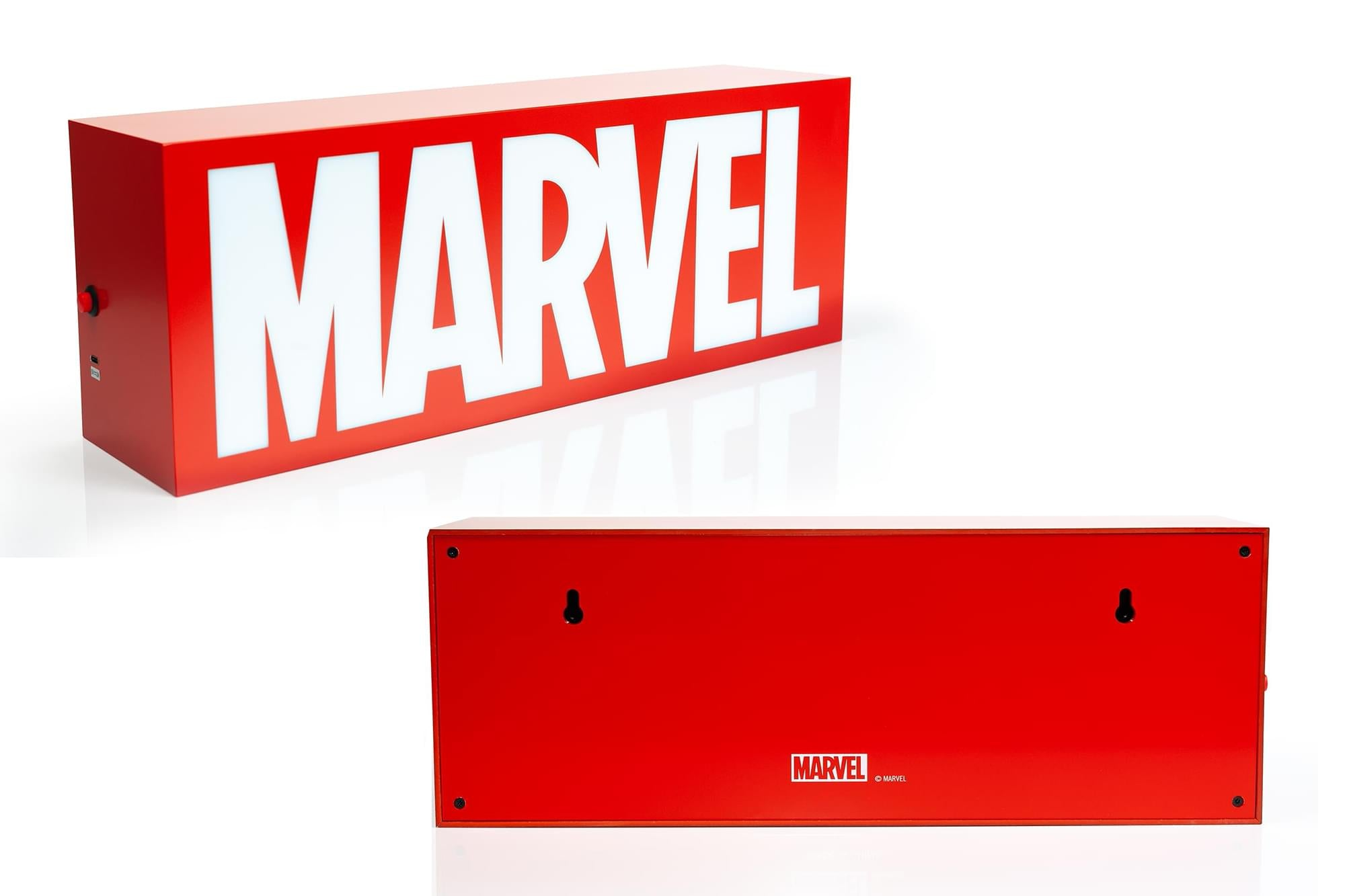 Marvel Comics Official Logo 17-Inch Light Box | Electric/USB Mood Light