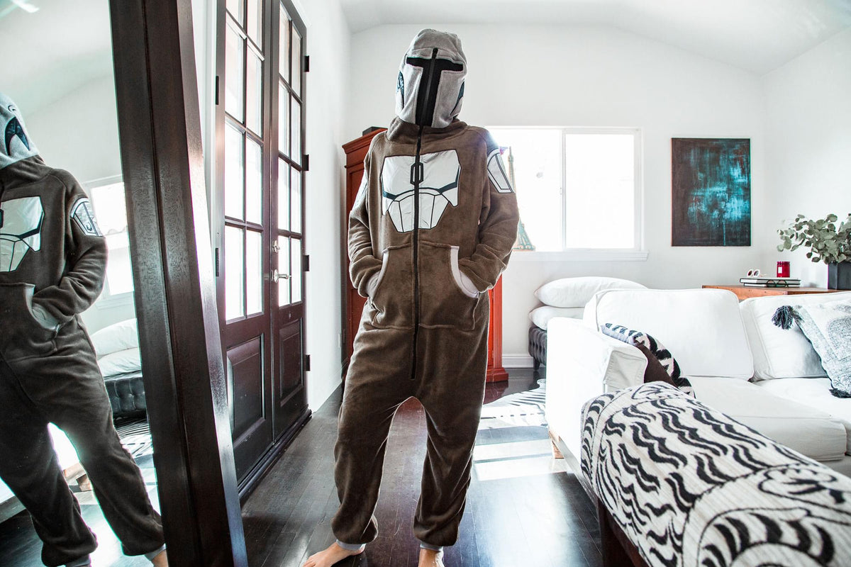 Star Wars: The Mandalorian Bounty Hunter Unisex Onesie for Adults