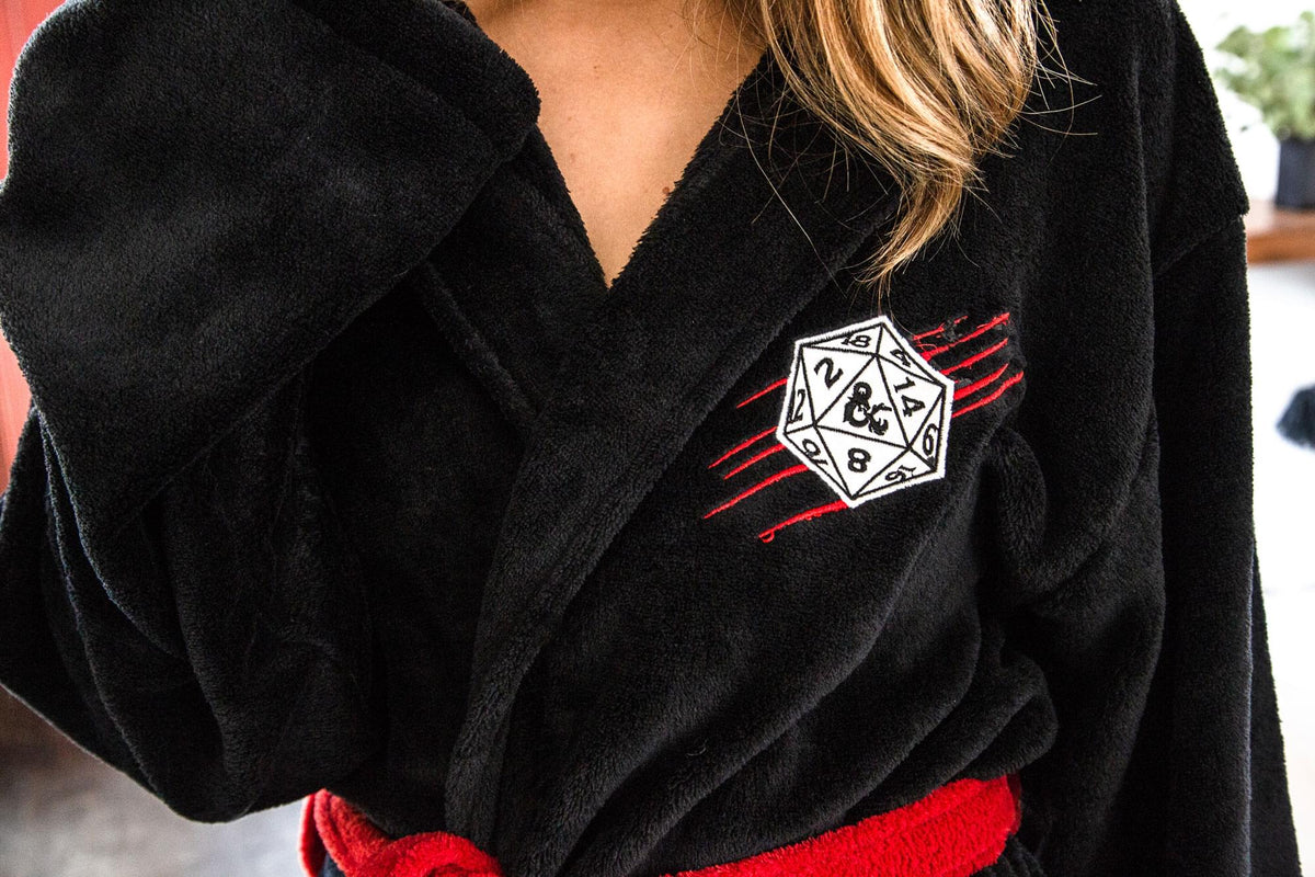 Dungeons & Dragons Dungeon Master Bathrobe for Adults | One Size Fits Most
