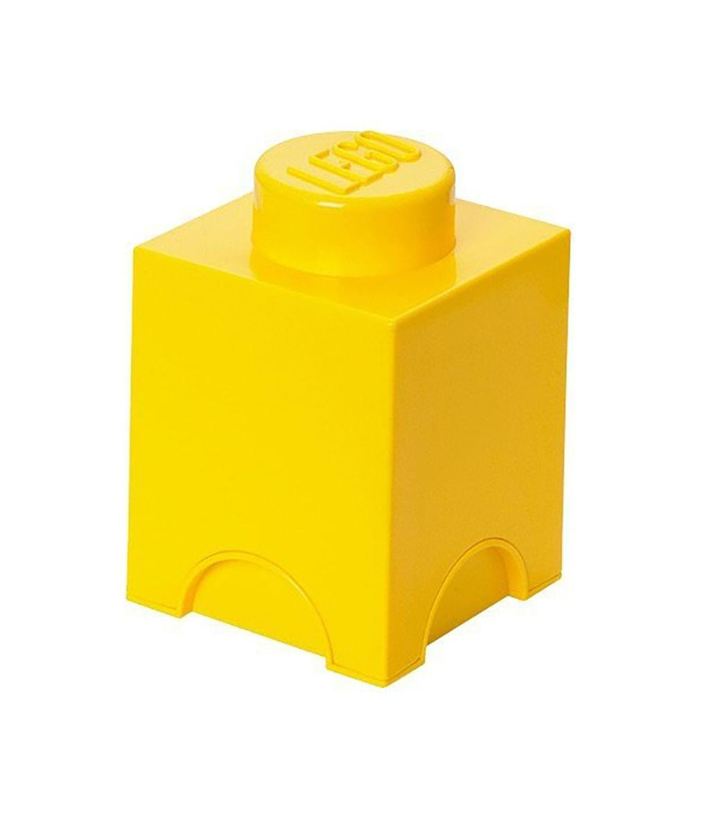LEGO Storage Brick 1, Bright Yellow
