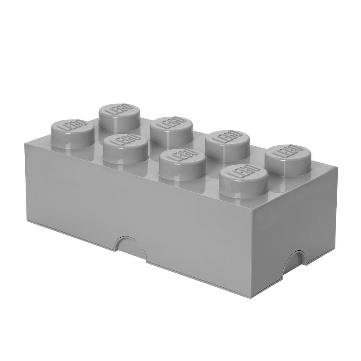 LEGO Storage Brick 8, Stone Grey
