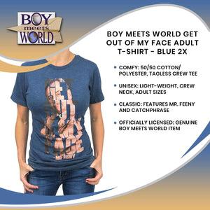 Boy Meets World Get Out Of My Face Adult T-Shirt - Blue