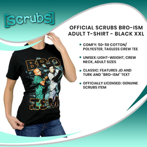 Official Scrubs Bro-ism Adult T-Shirt - Black