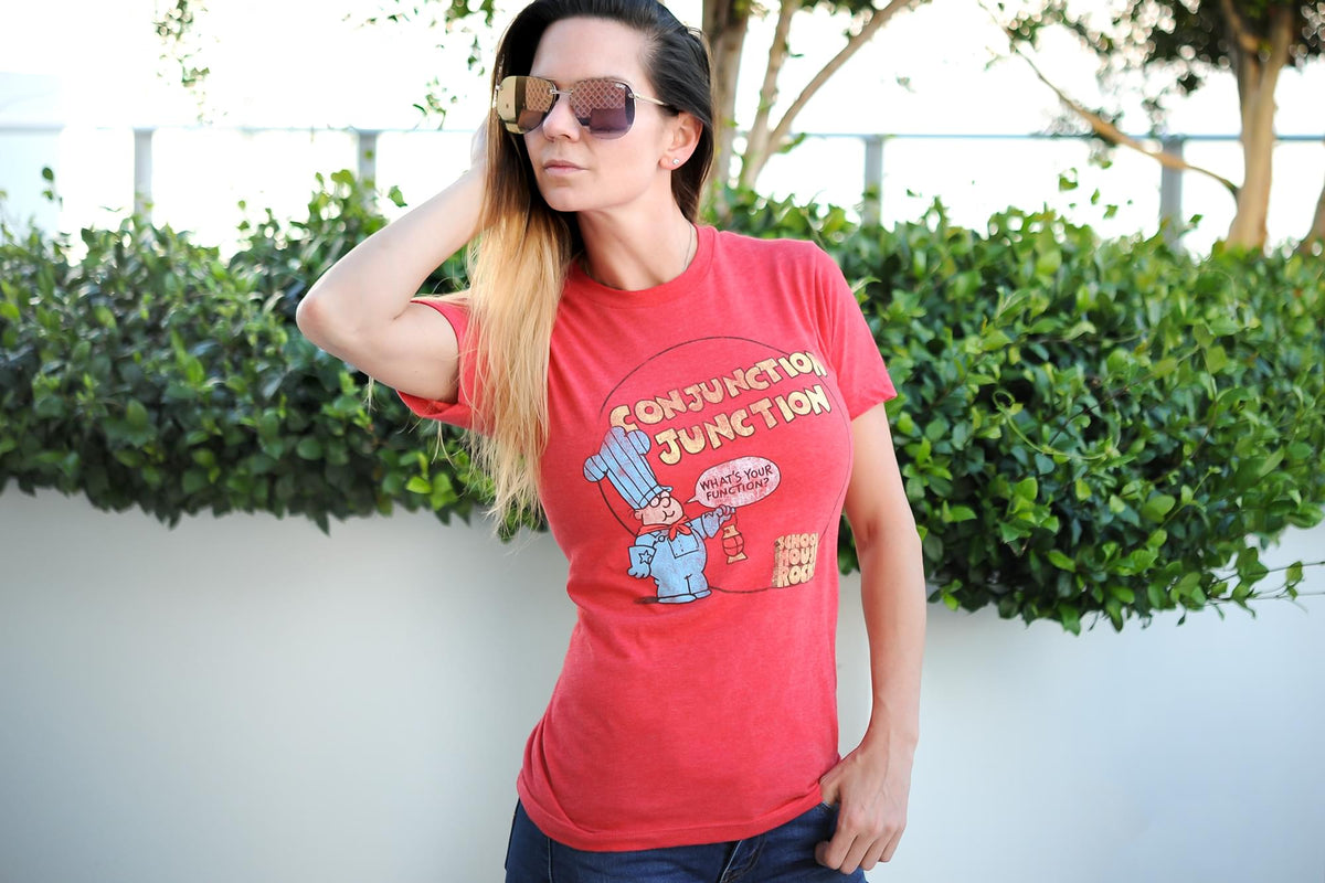 "Schoolhouse Rock! ""Conjunction Junction"" Adult T-Shirt - Red"