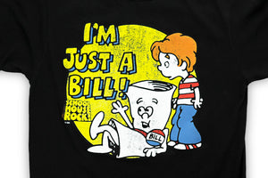 Schoolhouse Rock! I'm Just A Bill Adult Black T-Shirt
