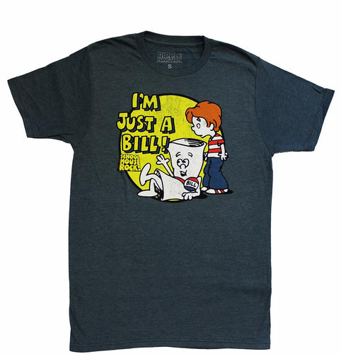 Schoolhouse Rock I'm Just A Bill Adult Red T-Shirt | XXX-Large