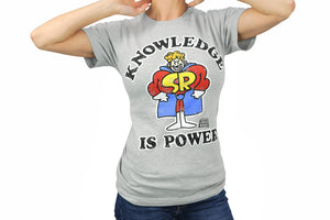 "Schoolhouse Rock! ""Knowledge Is Power"" Adult T-Shirt - Grey"