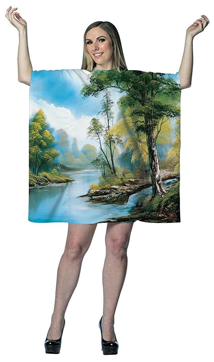 Bob Ross Happy Tree Painting Adult Costume Dress