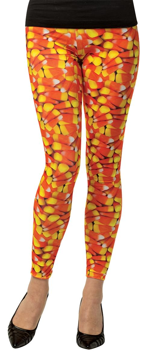 Candy Corn Leggings Adult Costume Accessory S/M