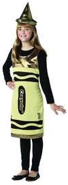 Crayola Gold Tank Costume Dress Tween