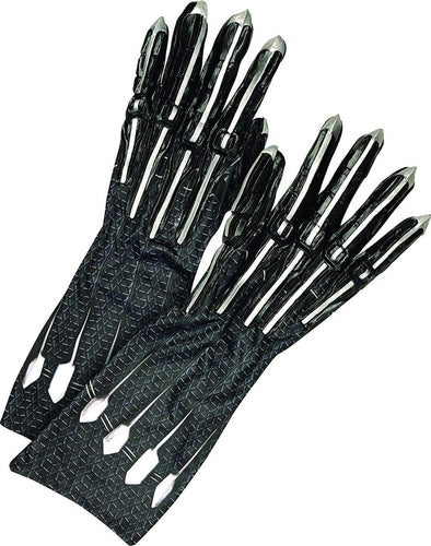 Marvel Black Panther Adult Deluxe Costume Gloves - Black - One Size