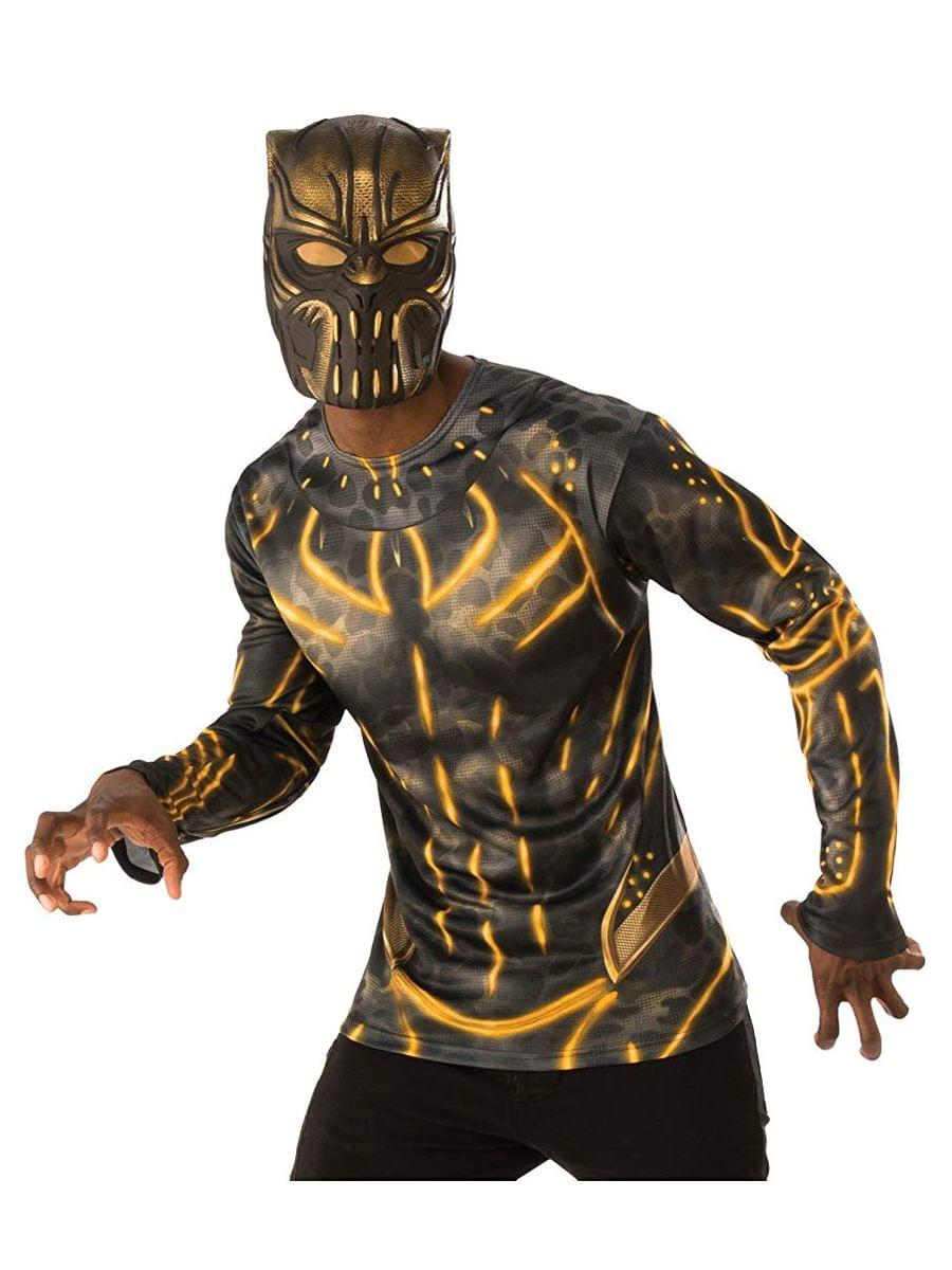 Marvel Black Panther Movie Erik Killmonger Adult 3/4 Vinyl Costume Mask