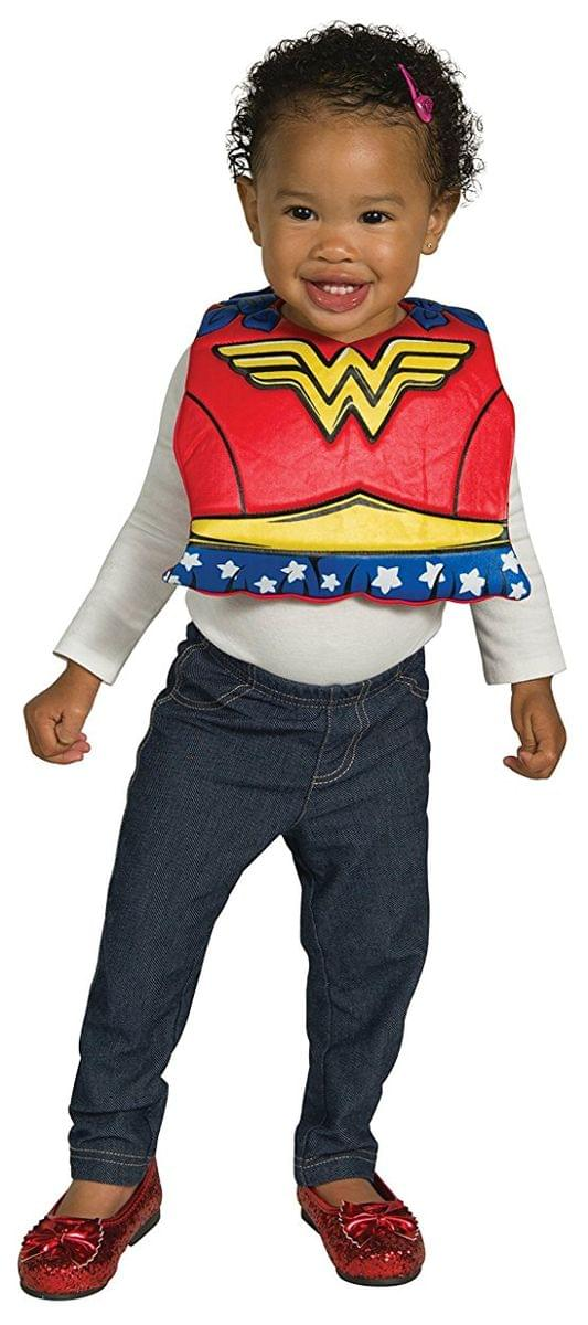 DC Comics Wonder Woman Baby Costume Bib w/ Removable Cape