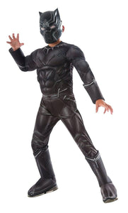 Captain America 3 Deluxe Muscle Chest Black Panther Costume Child
