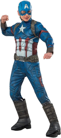 Marvel Captain America Deluxe Child Costume Small