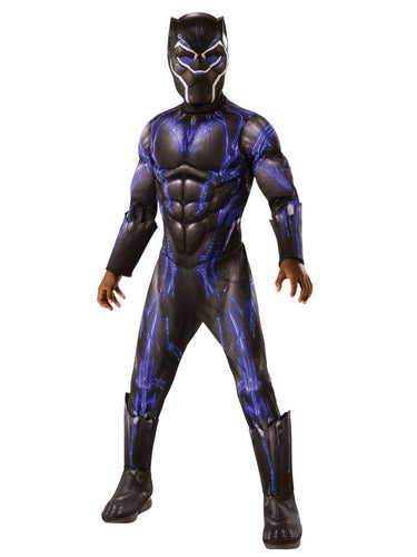 Marvel Black Panther Movie Deluxe Black Panther Child Costume - Blue